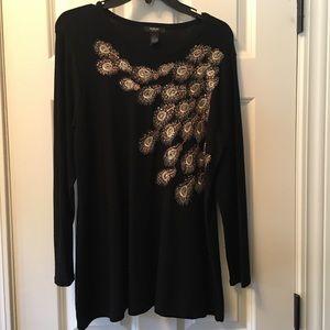 Gorgeous embellished black sweater.